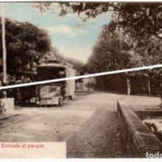 Postales: BONITA POSTAL - AGUAS DE CABREIROÁ (ORENSE) - ENTRADA AL PARQUE. Lote 224679196