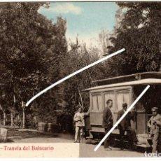 Postales: PRECIOSA POSTAL - AGUAS DE CABREIROÁ (ORENSE) - TRANVIA DEL BALNEARIO. Lote 224679692