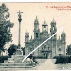 Postales: PRECIOSA POSTAL - BAÑOS DE MOLGAS (ORENSE) - SANTUARIO DE LOS MILAGROS - FACHADA CON EL CRUCERO. Lote 224691341