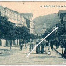 Postales: PRECIOSA POSTAL - RIBADAVIA (ORENSE) - CALLE DEL PROGRESO - EDICION HERMENEGILDO RODRIGUEZ. Lote 224692618