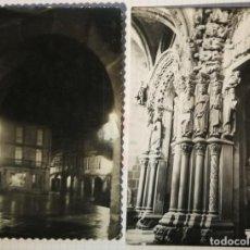 Cartes Postales: 2 UNID. GALICIA. CORUÑA. SANTIAGO DE COMPOSTELA. PLAZA TORAL Y PÓRTICO. EDIT. ARTIGOT 126 Y 46 S/C. Lote 231581795