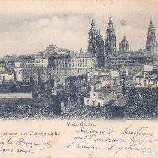 Postales: SANTIAGO DE COMPOSTELA Nº18 VISTA GENERAL CIRC. EN 1903. Lote 231587555