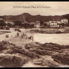 Postales: BAYONA. PLAYA DE LA CONCHEIRA. TARJETA. POSTAL. ED. CARRASCO. BAIONA. PONTEVEDRA. GALICIA.. Lote 232417986