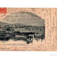 Postales: VIGO.- (PONTEVEDRA).- VISTA GENERAL DESDE LA CALZADA.. Lote 234175655