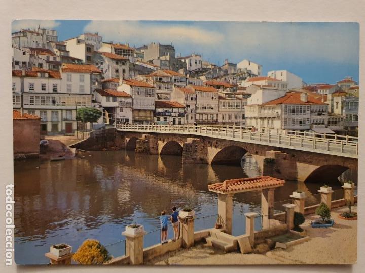 BETANZOS - VISTA PARCIAL Y PUENTE NUEVO - CORUÑA - P42633 (Postales - España - Galicia Moderna (desde 1940))