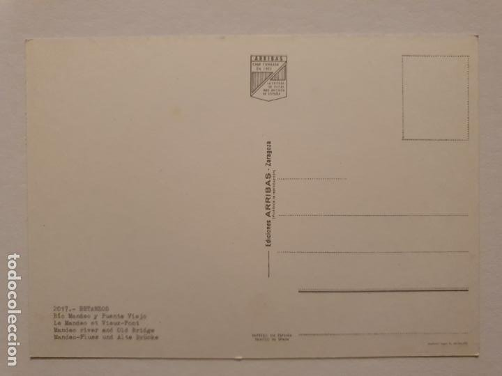 Postales: BETANZOS - RÍO MANDEO Y PUENTE VIEJO - CAMIÓN - CORUÑA - P42634 - Foto 2 - 234784355