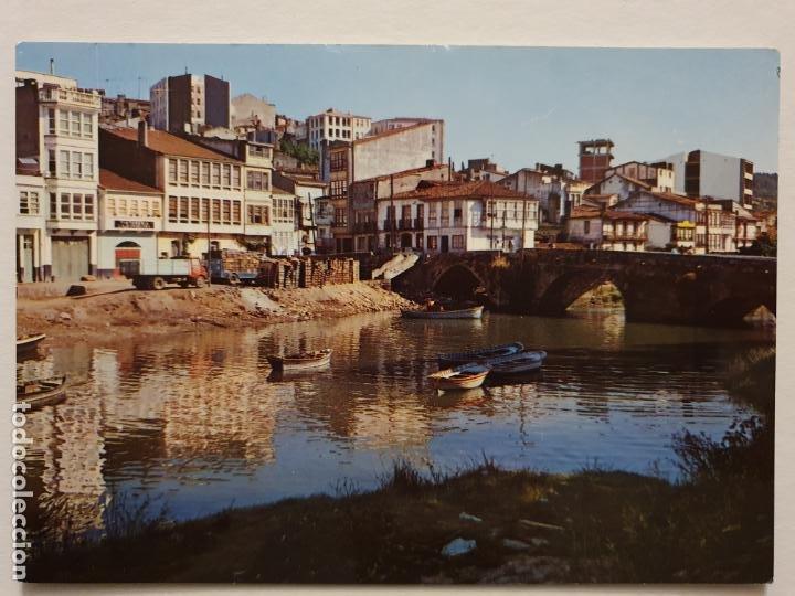 BETANZOS - RÍO MANDEO Y PUENTE VIEJO - CAMIÓN - CORUÑA - P42634 (Postales - España - Galicia Moderna (desde 1940))