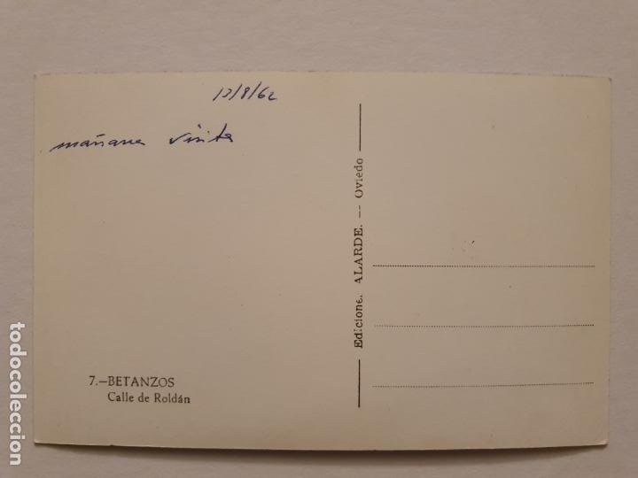 Postales: BETANZOS - CALLE DE ROLDÁN - CORUÑA - P42636 - Foto 2 - 234784400