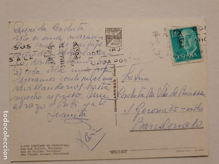 Postales: SANTIAGO DE COMPOSTELA - RÚA DEL VILLAR - AUTOMÓVIL SEAT 600 - CORUÑA - P42639 - Foto 2 - 234784515