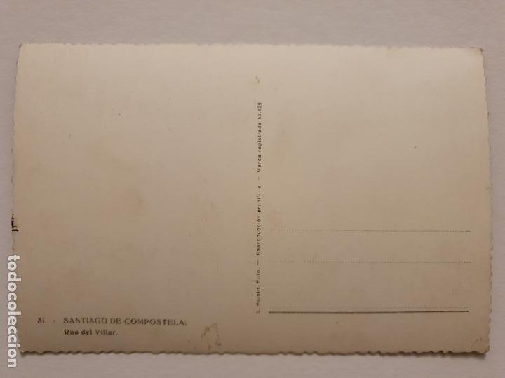 Postales: SANTIAGO DE COMPOSTELA - RÚA DEL VILLAR - CORUÑA - P42640 - Foto 2 - 234784550