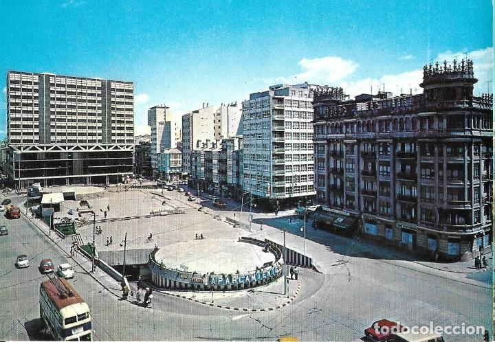 POSTAL CORUÑA PLAZA DE PONTEVEDRA ALARDE Nº2/090EB AÑO1971* (Postales - España - Galicia Moderna (desde 1940))
