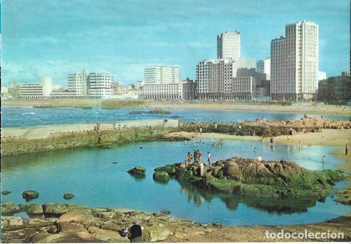 POSTAL CORUÑA PLAYA DE RIAZOR ALARDE Nº14/47B AÑO 1975* (Postales - España - Galicia Moderna (desde 1940))