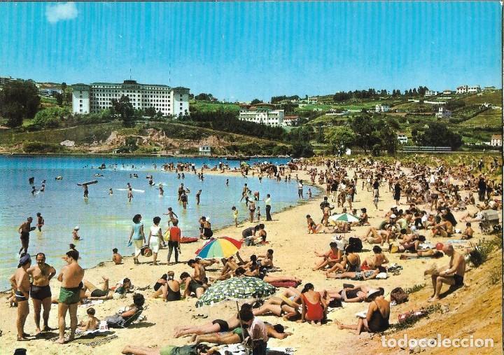 POSTAL CORUÑA PLAYA DE SANTA CRISTINA ALARDE Nº26/69 AÑOS 70* (Postales - España - Galicia Moderna (desde 1940))