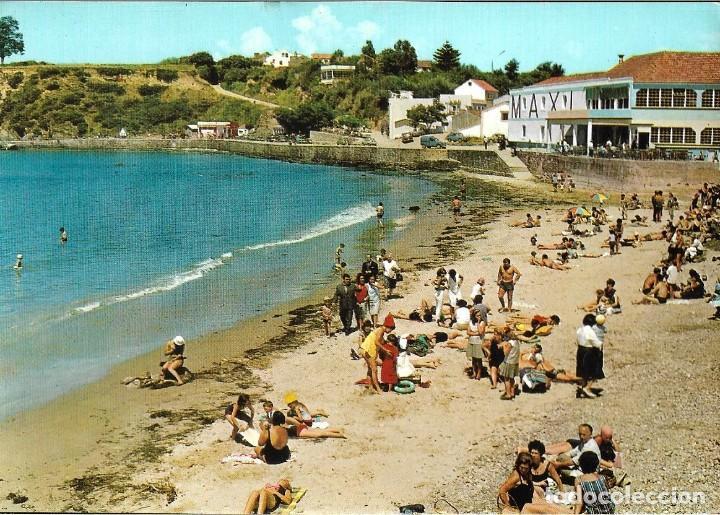 POSTAL CORUÑA PLAYA DE SANTA CRUZ ALARDE Nº29/73 AÑOS 70* (Postales - España - Galicia Moderna (desde 1940))