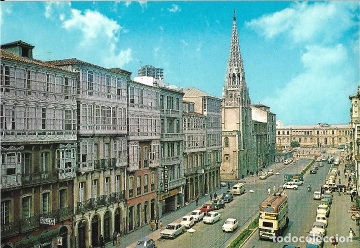POSTAL CORUÑA CALLE DE JUANA DE VEGA ALARDE Nº54/61 AÑO 1966** (Postales - España - Galicia Moderna (desde 1940))