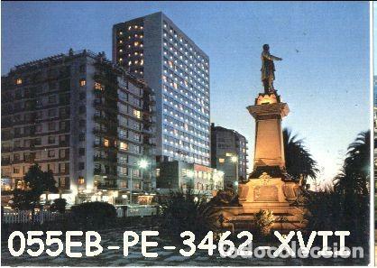 POSTAL VIGO MONUMENTO ELDUAYEN Y HOTEL BAHÍA PERLA Nº3462/55EB AÑOS 70* (Postales - España - Galicia Moderna (desde 1940))