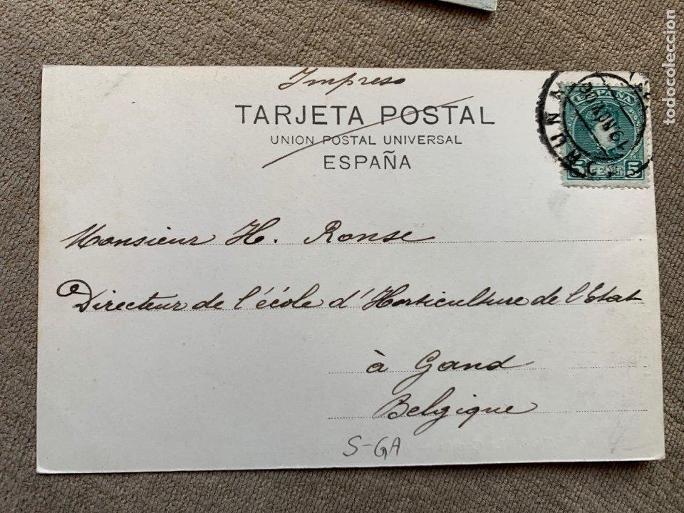 Postales: No.8 La Coruña-Avenida de los Cantones circulada 19 nov.1906 - Foto 2 - 235284035