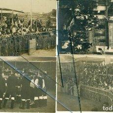 Postales: GALICIA CORUÑA CORCUBION LOTE 4 POSTALES FOTOGRÁFICAS. CORRIDA DE TOROS .1921. MUY RARAS.. Lote 235370895