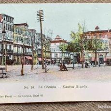 Postales: NO.14. LA CORUÑA -CANTON GRANDE CIRCULADA 1906 A BELGICA. Lote 235492050