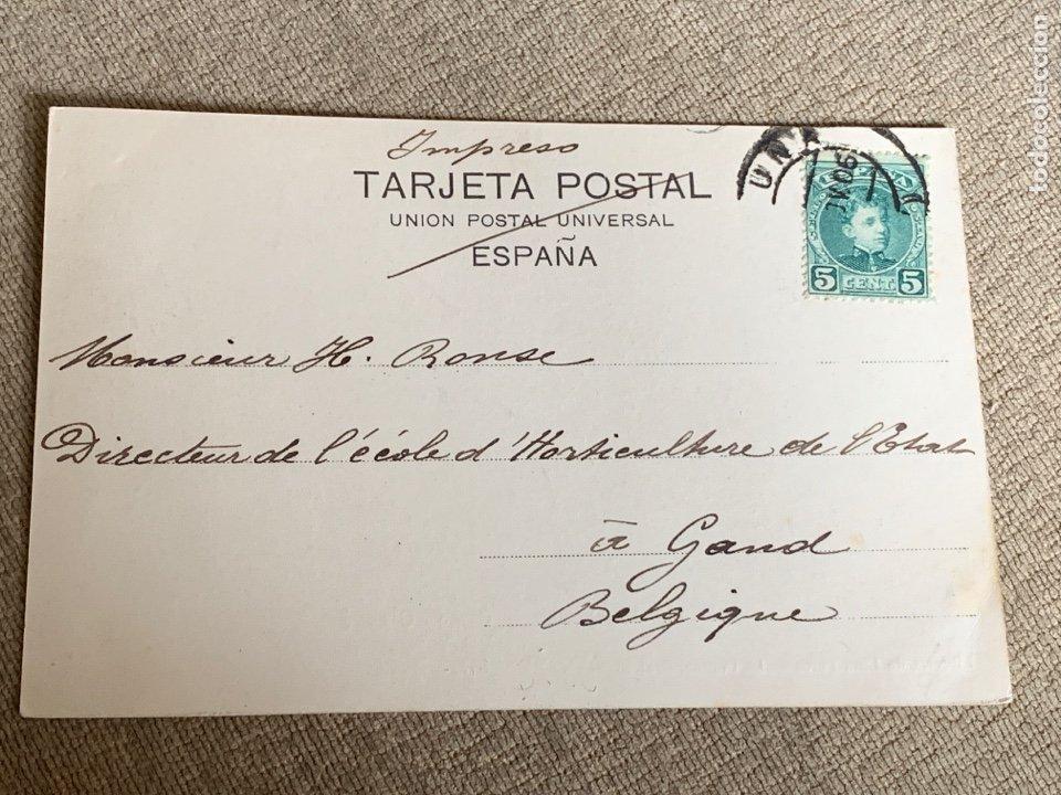 Postales: No.14. La Coruña -Canton Grande circulada 1906 a Belgica - Foto 2 - 235492050