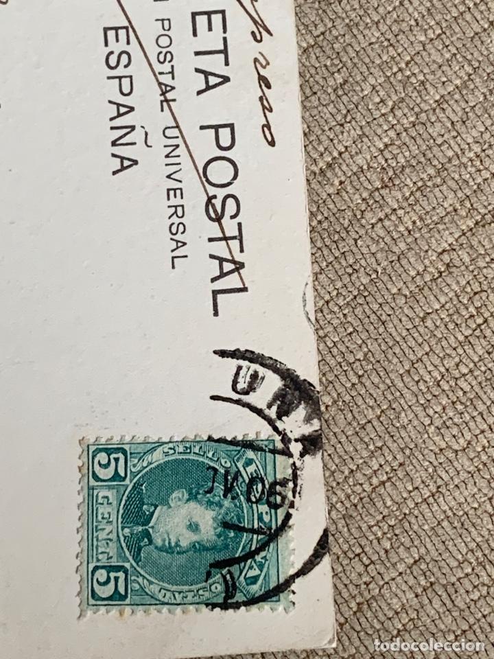 Postales: No.14. La Coruña -Canton Grande circulada 1906 a Belgica - Foto 3 - 235492050