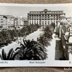 Postales: 23.LA CORUÑA HOTEL EMBAJADOR R.GASSÓ,FOT.. Lote 235518770