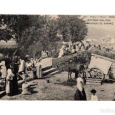 Postales: BAYONA.(PONTEVEDRA).- MERCADO DE SABARIZ .. Lote 235841640