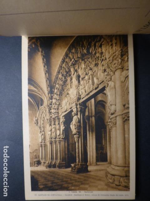 Postales: SANTIAGO DE COMPOSTELA CATEDRAL CUADERNO 20 POSTALES L. ROISIN - Foto 2 - 236056650