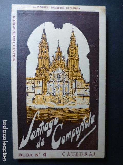 SANTIAGO DE COMPOSTELA CATEDRAL CUADERNO 20 POSTALES L. ROISIN (Postales - España - Galicia Antigua (hasta 1939))
