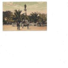 Postales: ANTIGUA POSTAL DE LA CORUÑA JARDINES DE MENDEZ NUÑEZ ESTATUA DE CARBALLO CIRCULADA 19211. Lote 236099465