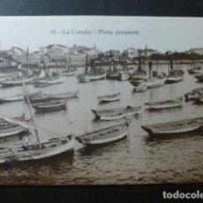 Postales: LA CORUÑA FLOTA PESQUERA. Lote 236192135