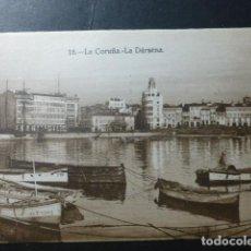 Postales: LA CORUÑA DARSENA. Lote 236192590