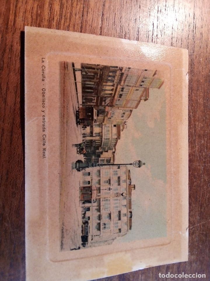 TARJETA POSTAL DE LA CORUÑA - OBELISCO Y ENTRADA CALLE REAL (Postales - España - Galicia Antigua (hasta 1939))
