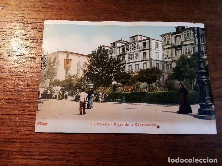 TARJETA POSTAL DE LA CORUÑA - PLAZA DE LA COSTITUCIÓN (Postales - España - Galicia Antigua (hasta 1939))