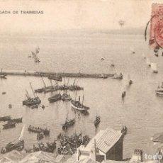 Postales: VIGO Nº 16 LLEGADA DE TRAINERAS H.M- CIR. EN 1913. Lote 237345110