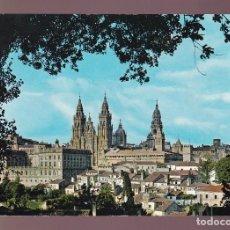 Postales: SANTIAGO. *LA CATREDAL DESDE...* ED. G. GARRABELLA-SRC Nº 11. CIRCULADA 1965.. Lote 237532870