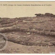 Postales: PUERTO DEL SON - CASTRO DE BAROÑA - GRUPO DE CASAS CIRCULARES. LA CORUÑA / GALICIA. Lote 237578050