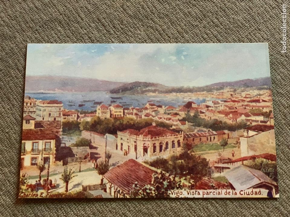 VIGO VISTA PARCIAL DE LA CIUDAD . EDITOR INGLES (Postales - España - Galicia Antigua (hasta 1939))