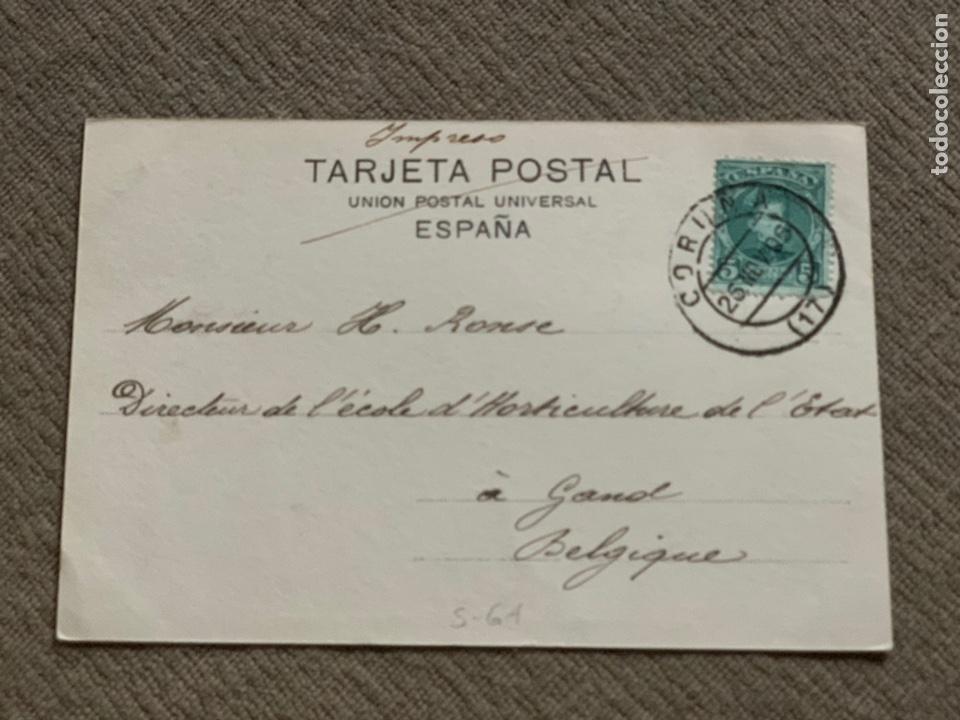 Postales: No 28 La Coruña -Calle de la Marina 25 nov. 1905 - Foto 2 - 238077840