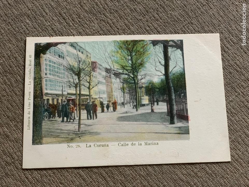 NO 28 LA CORUÑA -CALLE DE LA MARINA 25 NOV. 1905 (Postales - España - Galicia Antigua (hasta 1939))