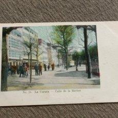 Postales: NO 28 LA CORUÑA -CALLE DE LA MARINA 25 NOV. 1905. Lote 238077840