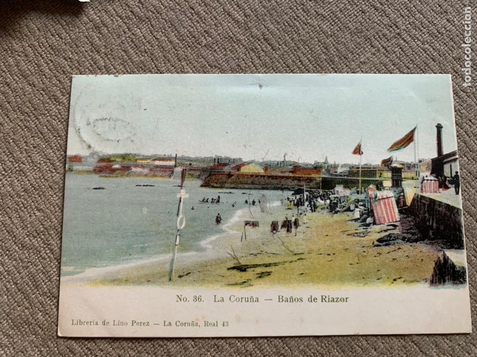 LA CORUÑA -BAÑOS DE RIAZOR NO 86 CIRC. 25 NOV 1906 (Postales - España - Galicia Antigua (hasta 1939))