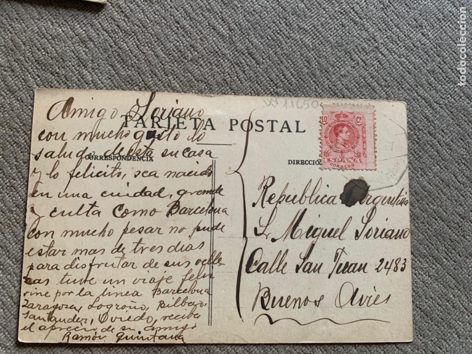 Postales: Ribadeo—Lugo -Muelle circulada buenos aires 1907? - Foto 2 - 238236735