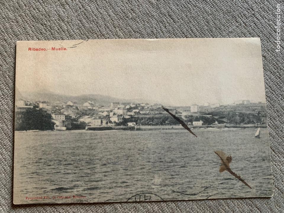 RIBADEO—LUGO -MUELLE CIRCULADA BUENOS AIRES 1907? (Postales - España - Galicia Antigua (hasta 1939))
