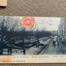 Postales: LA CORUÑA MUELLES DE LA ADUANA N18 CIRCULADA 23 MARZO 1906. Lote 238238930