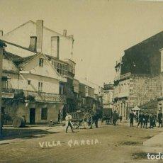 Postales: PONTEVEDRA. VILLA GARCIA. VILAGARCIA AROUSA.PLAZA DEL SOL. FOTOGRÁFICA. HACIA 1920.. Lote 238512145
