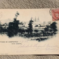 Postales: SANTIAGO DE COMPOSTELA. VISTA GENERAL 1902. Lote 241904770