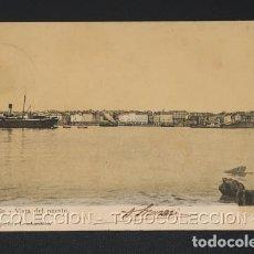 Postales: POSTAL LA CORUÑA VISTA DEL PUERTO - PAPELERIA LOMBARDERO . CA 1900. Lote 243029000