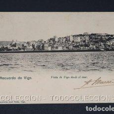 Postales: POSTAL RECUERDO DE VIGO VISTA DESDE EL MAR - PAPELERIA JOSE NIETO CA 1900. Lote 243031845