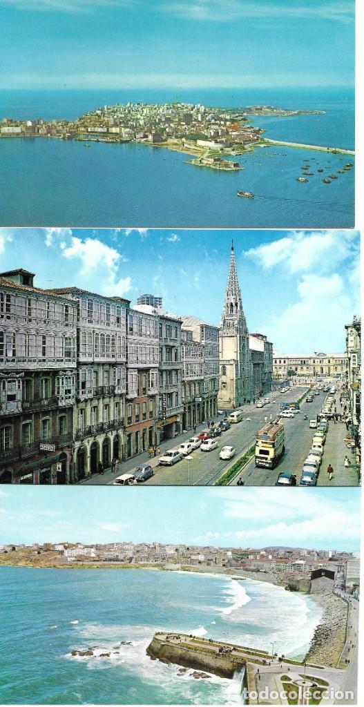 LOTE 10 POSTALES LA CORUÑA GALICIA (Postales - España - Galicia Moderna (desde 1940))